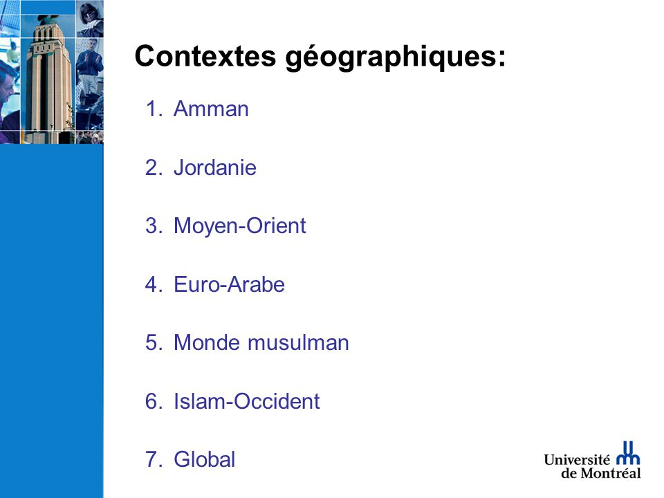 Contextes géographiques: