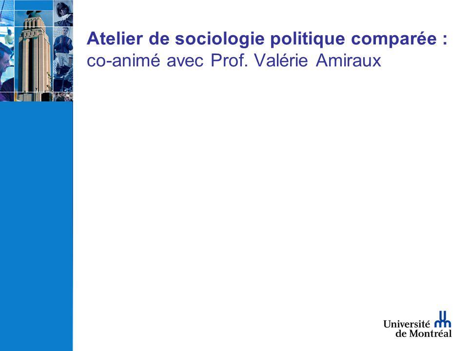 Atelier de sociologie politique comparée : co-animé avec Prof