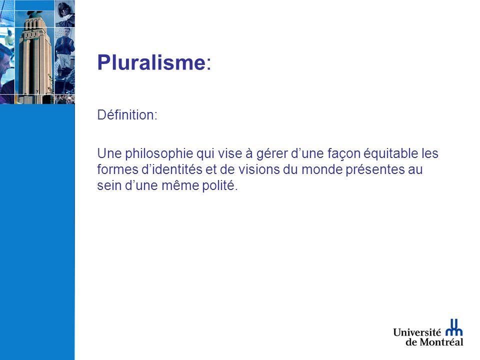 Pluralisme: Définition: