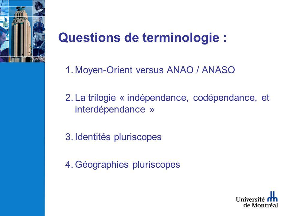 Questions de terminologie :