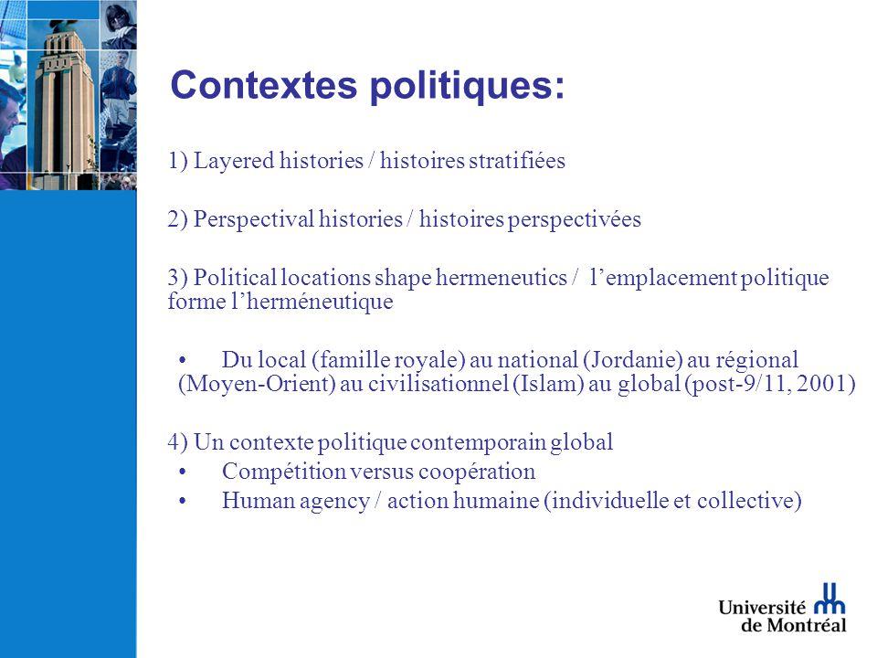 Contextes politiques: