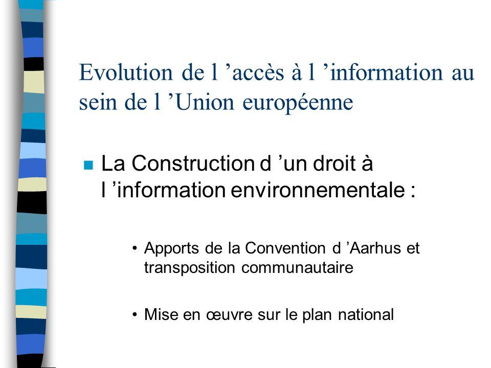 Evolution de l 'accès à l 'information au sein de l 'Union européenne