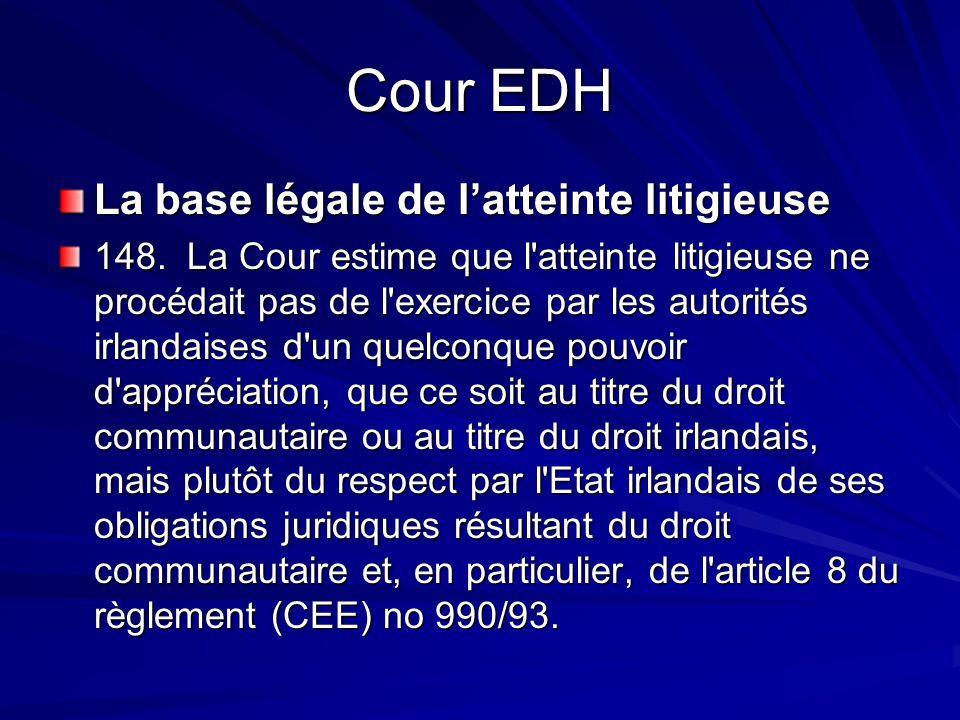 Cour EDH La base légale de l'atteinte litigieuse