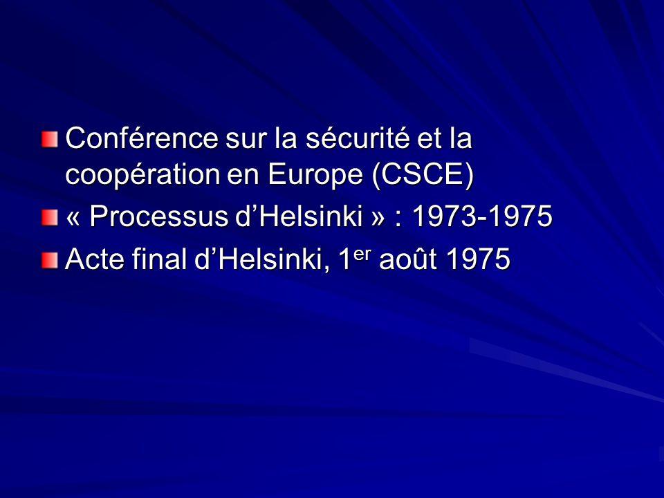 Conférence sur la sécurité et la coopération en Europe (CSCE)