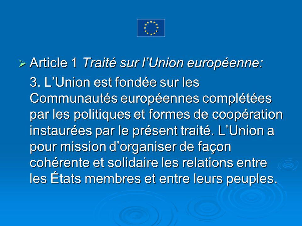 Article 1 Traité sur l'Union européenne: