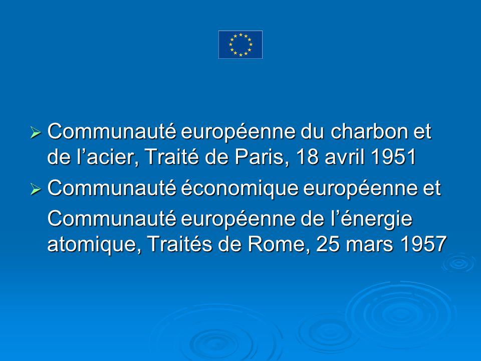 Communauté européenne du charbon et de l'acier, Traité de Paris, 18 avril 1951