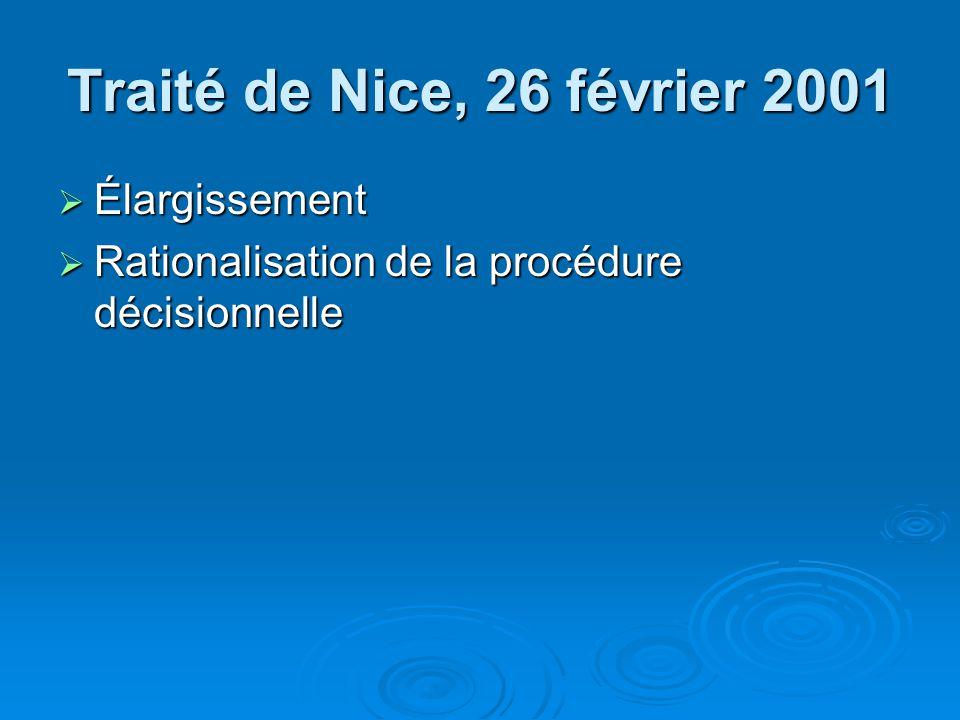 Traité de Nice, 26 février 2001 Élargissement