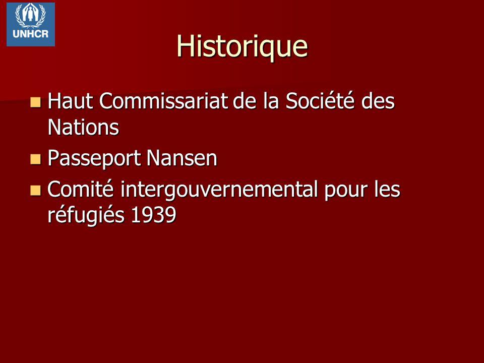Historique Haut Commissariat de la Société des Nations