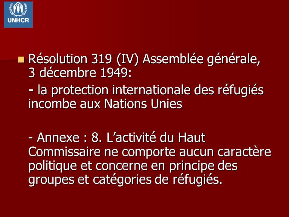 Résolution 319 (IV) Assemblée générale, 3 décembre 1949: