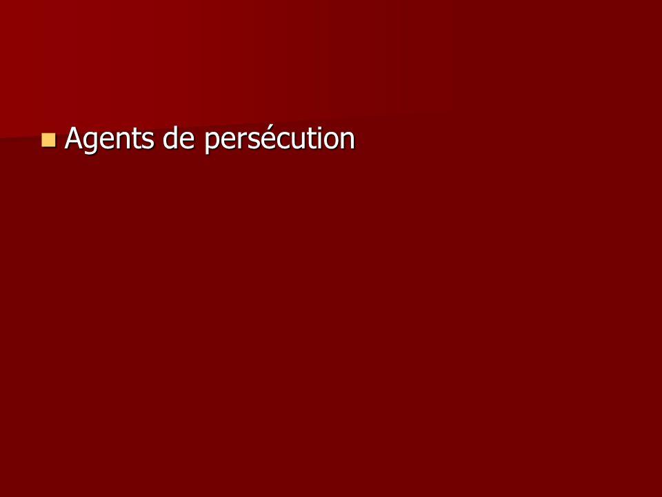 Agents de persécution