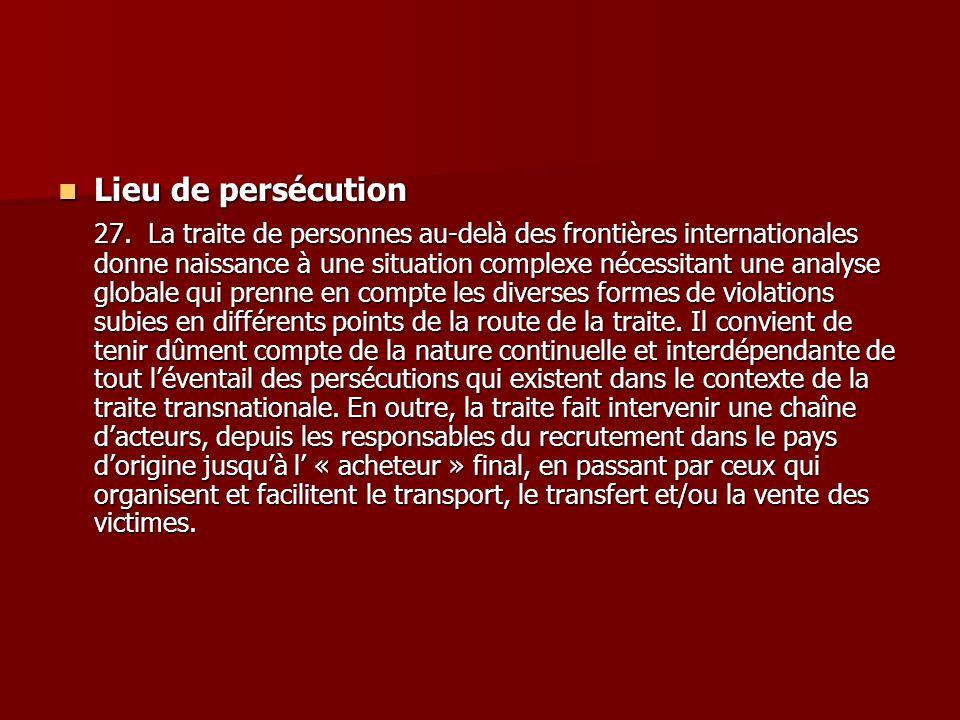 Lieu de persécution