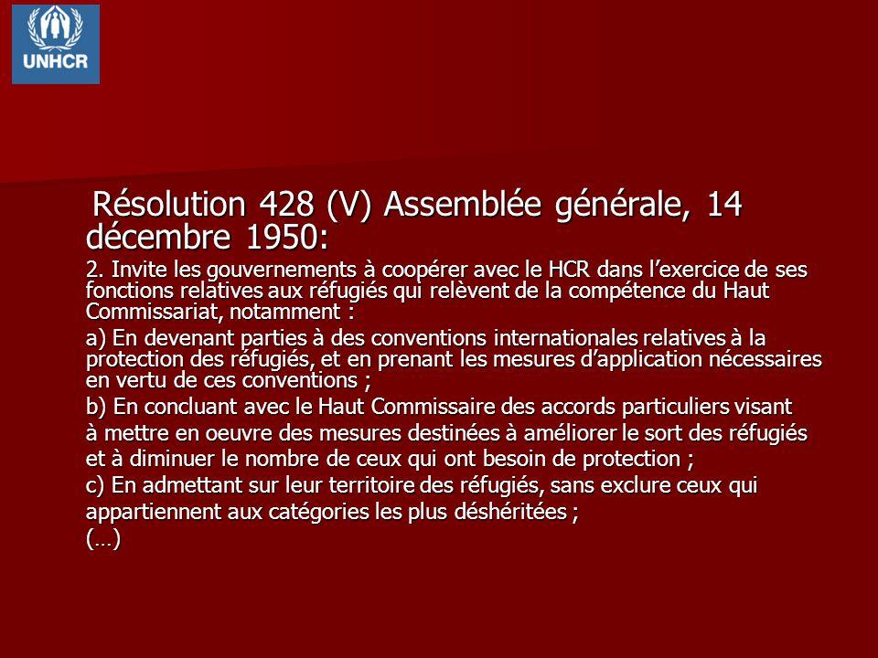 Résolution 428 (V) Assemblée générale, 14 décembre 1950:
