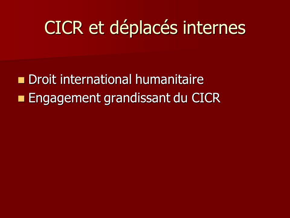 CICR et déplacés internes