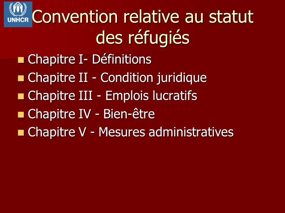 Convention relative au statut des réfugiés