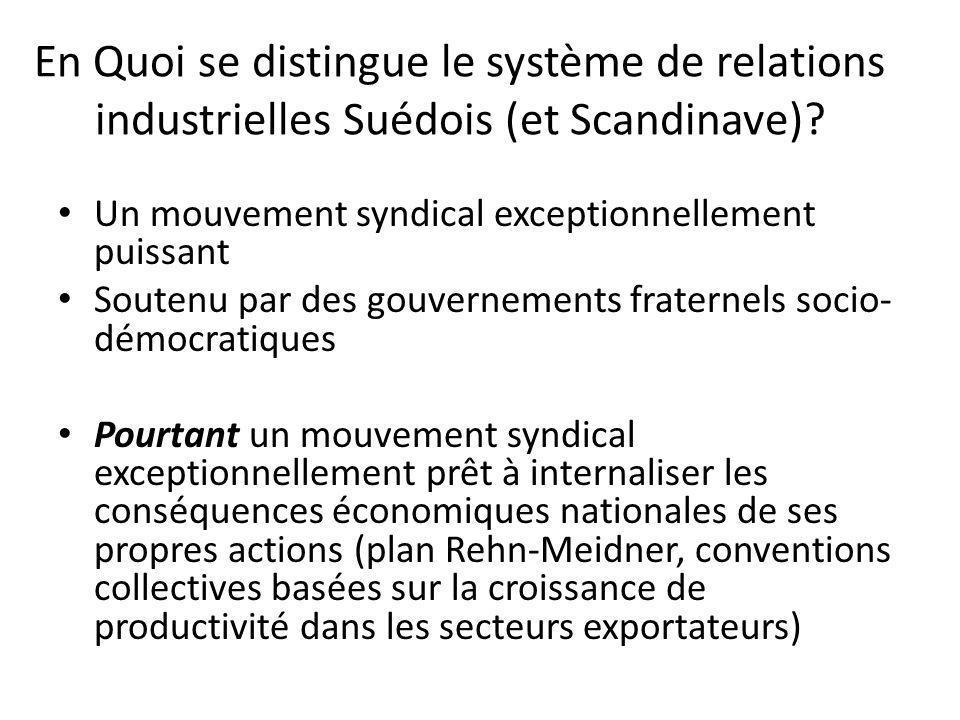 En Quoi se distingue le système de relations industrielles Suédois (et Scandinave)