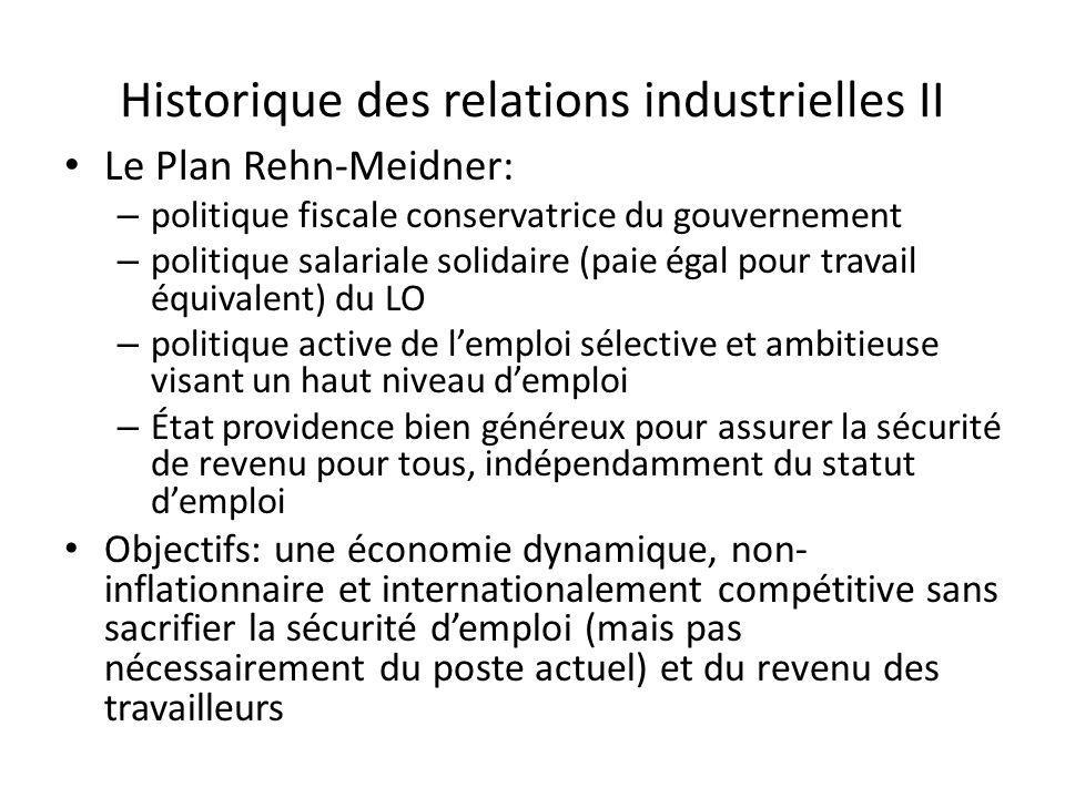 Historique des relations industrielles II