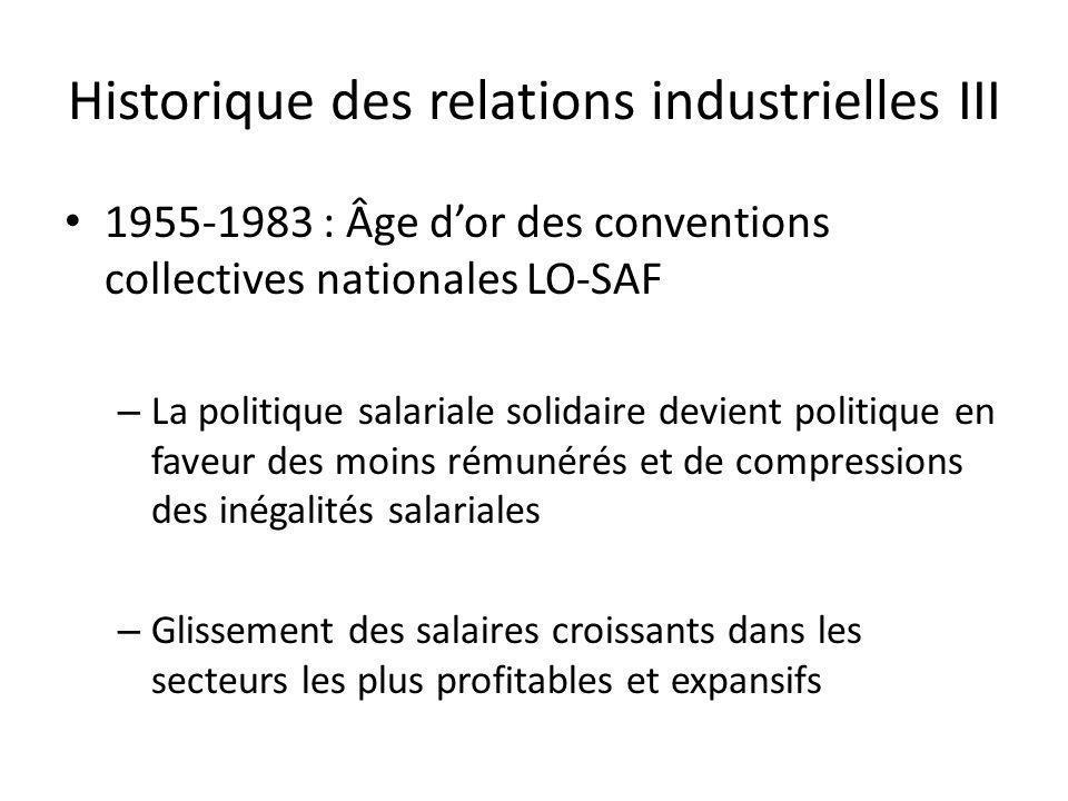 Historique des relations industrielles III