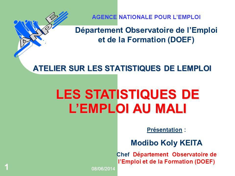 ATELIER SUR LES STATISTIQUES DE LEMPLOI