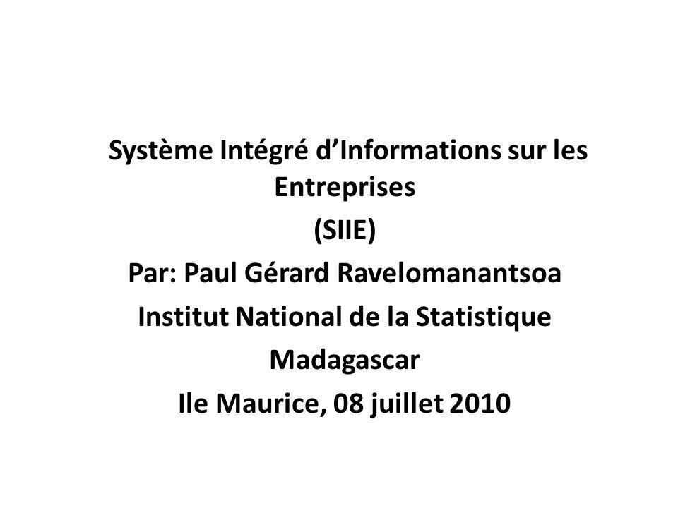 Système Intégré d'Informations sur les Entreprises (SIIE)