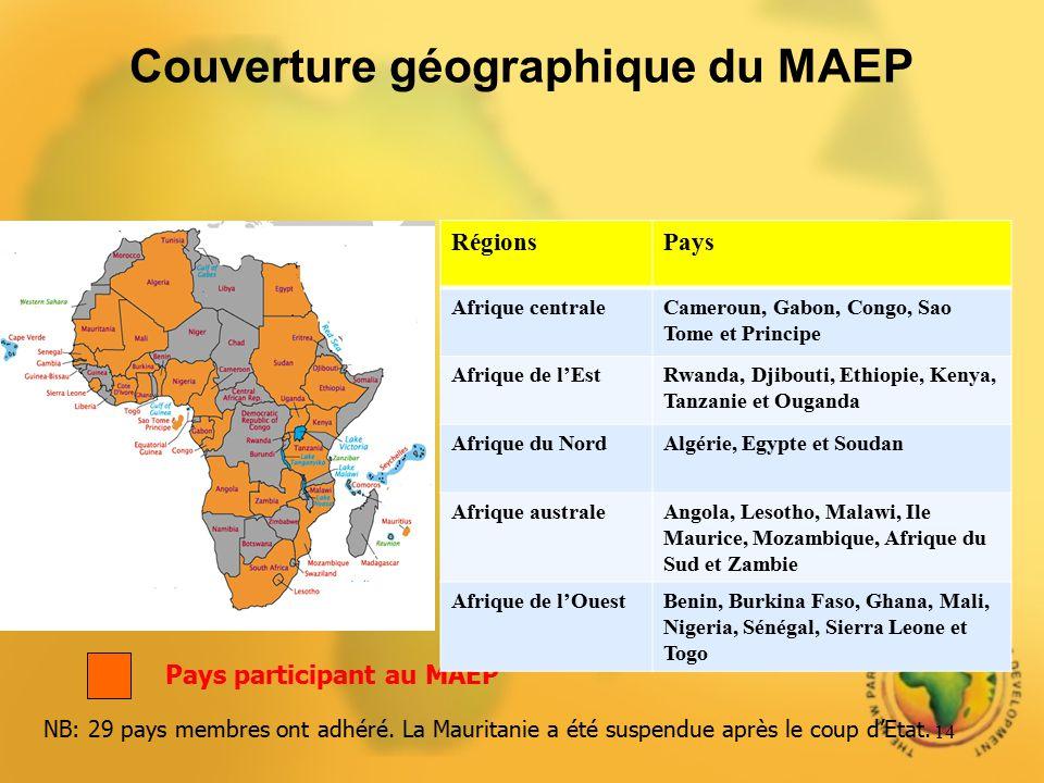 Couverture géographique du MAEP