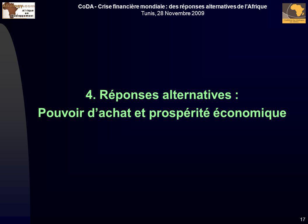4. Réponses alternatives : Pouvoir d'achat et prospérité économique