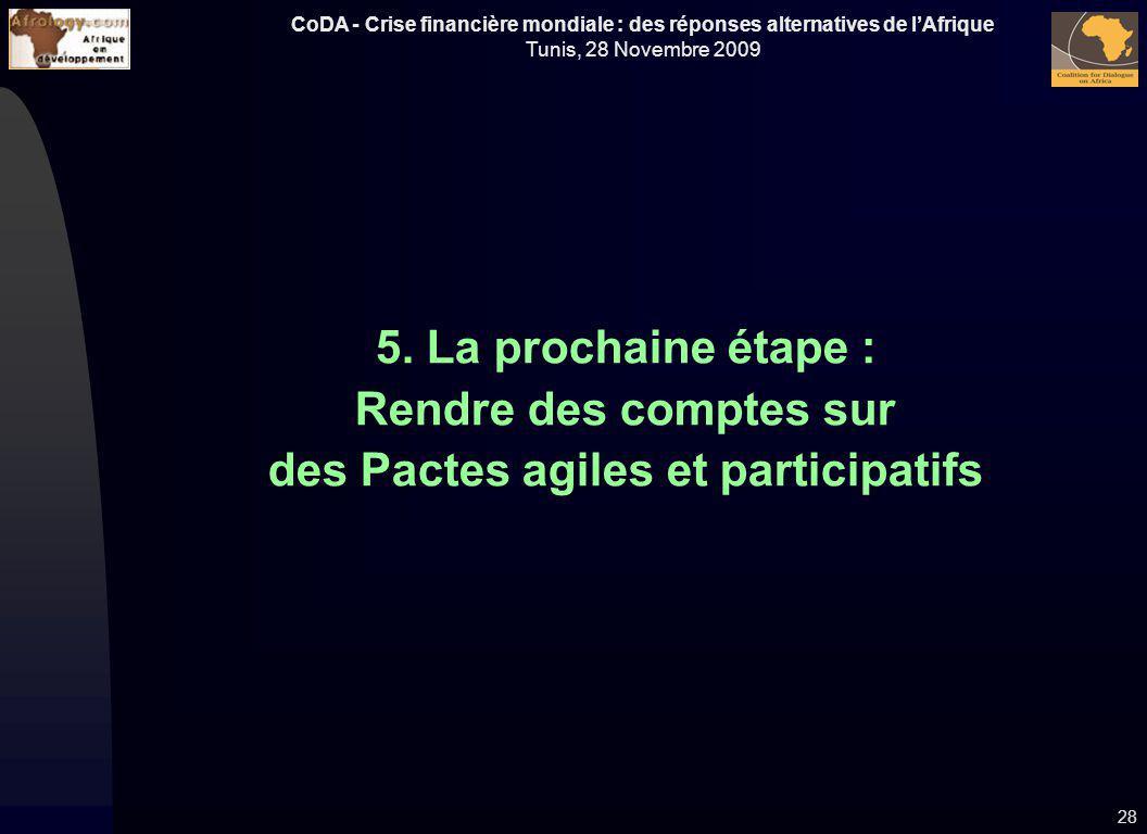5. La prochaine étape : Rendre des comptes sur des Pactes agiles et participatifs