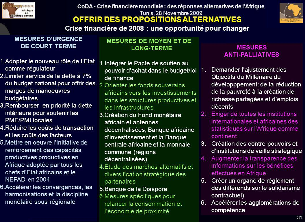 OFFRIR DES PROPOSITIONS ALTERNATIVES