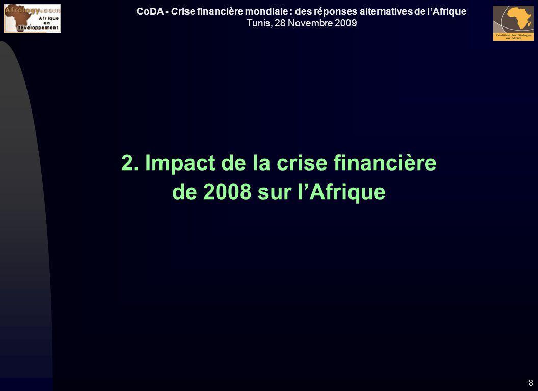 2. Impact de la crise financière de 2008 sur l'Afrique