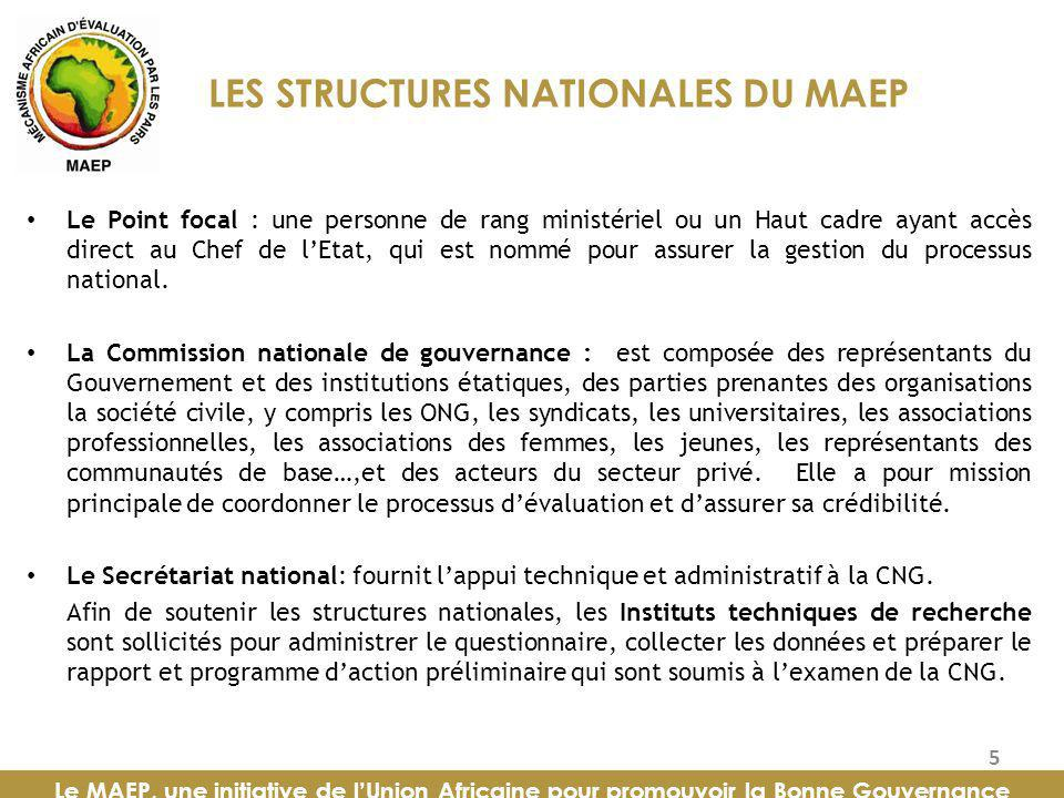 LES STRUCTURES NATIONALES DU MAEP