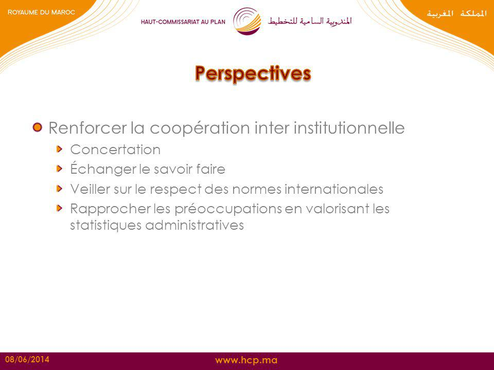 Perspectives Renforcer la coopération inter institutionnelle