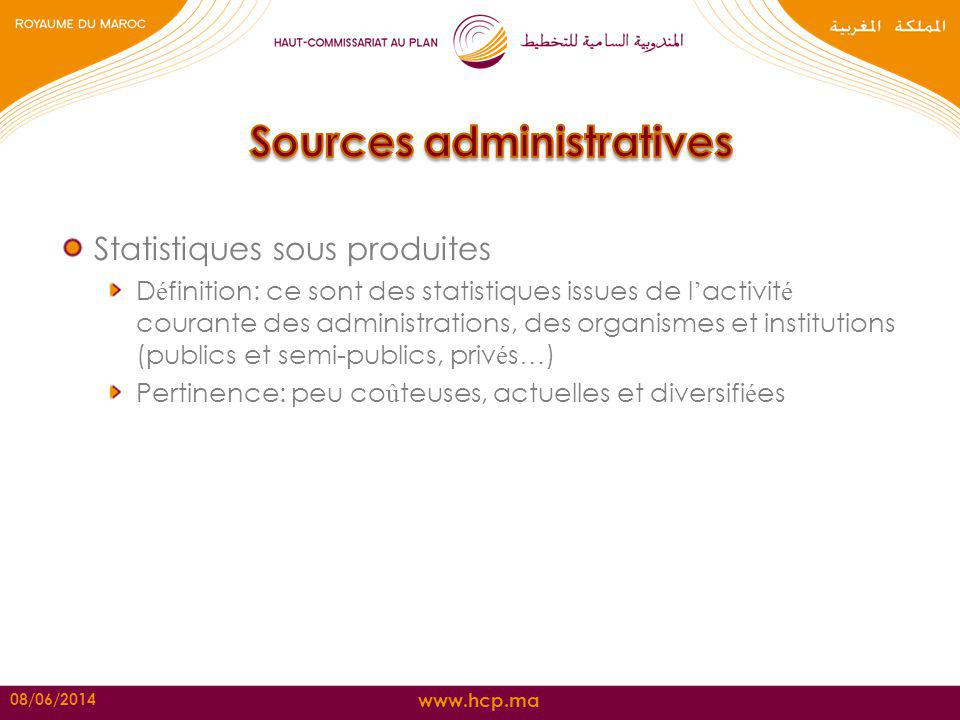 Sources administratives