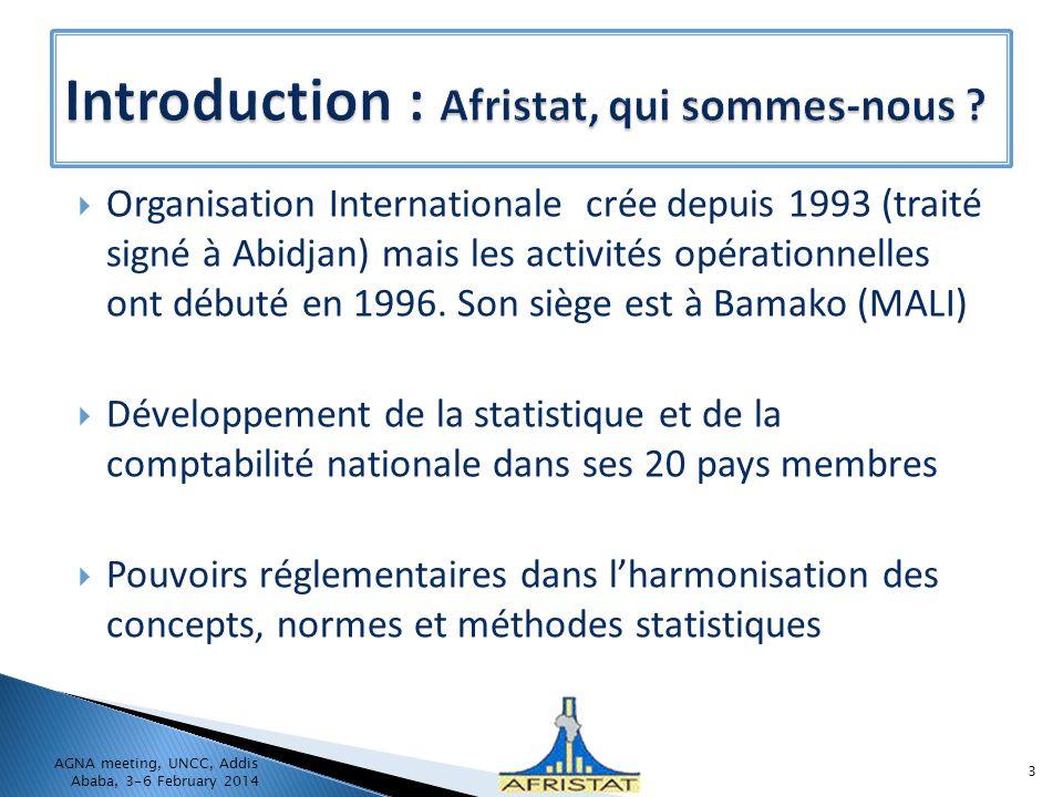 Introduction : Afristat, qui sommes-nous