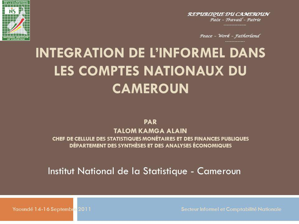 Institut National de la Statistique - Cameroun