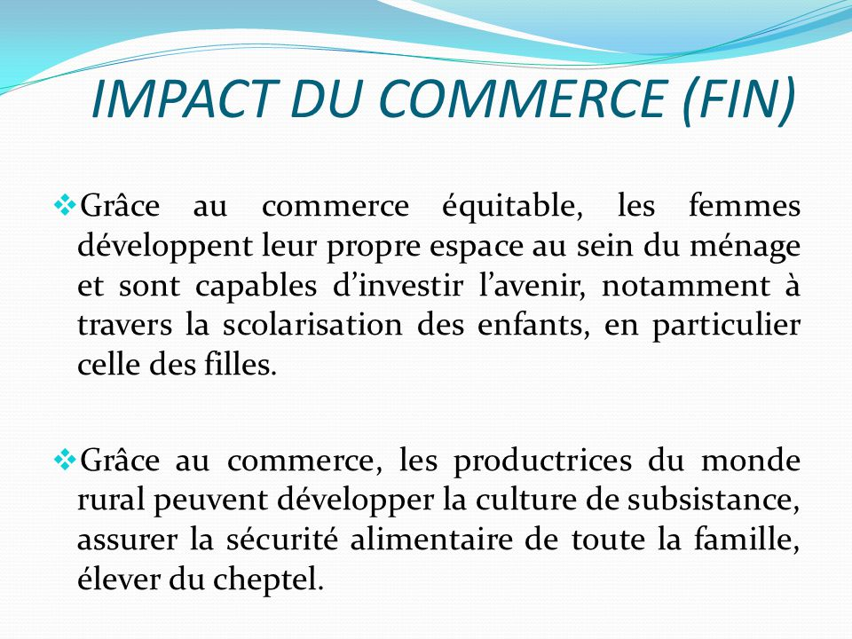 IMPACT DU COMMERCE (FIN)