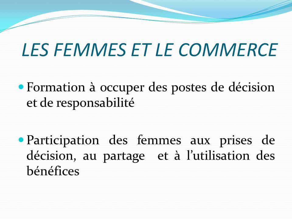 LES FEMMES ET LE COMMERCE