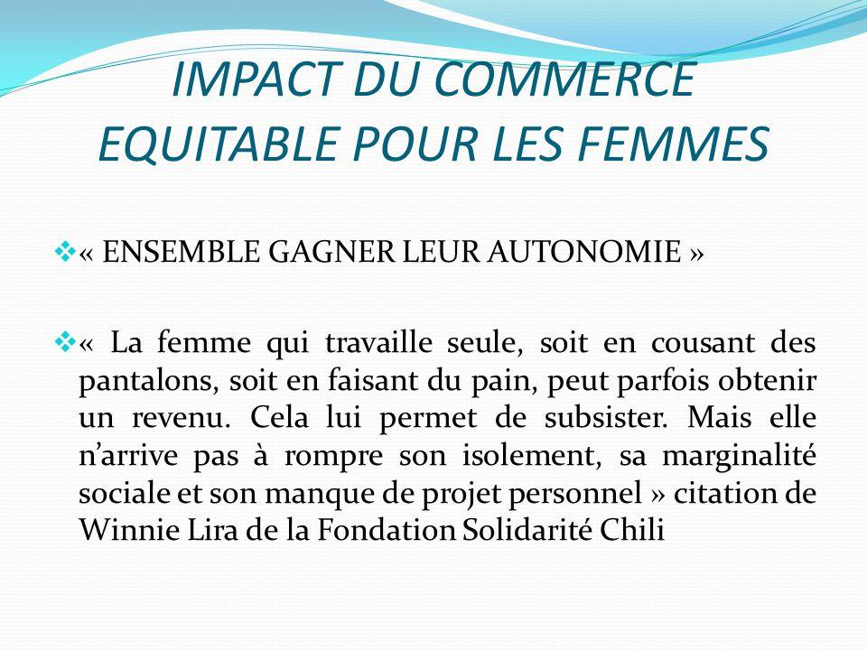 IMPACT DU COMMERCE EQUITABLE POUR LES FEMMES