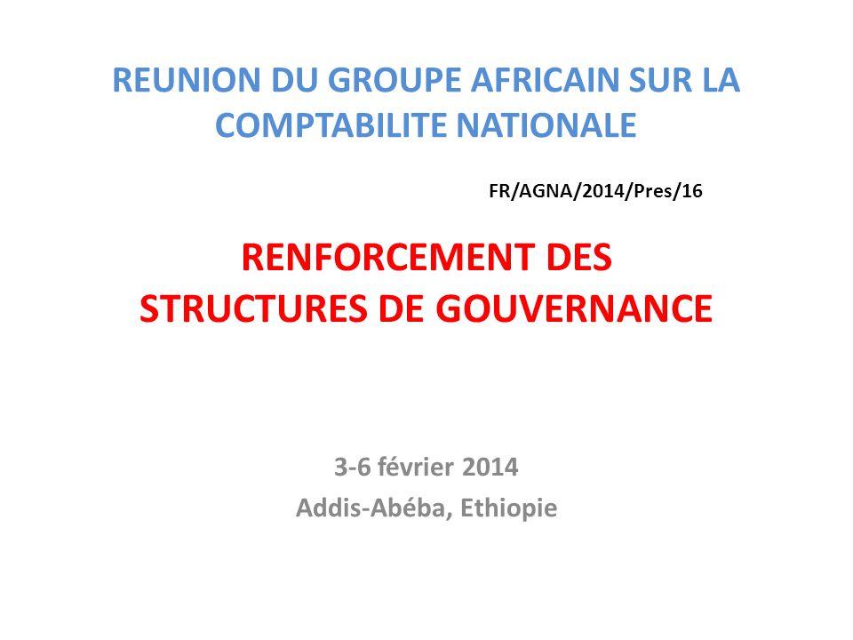 REUNION DU GROUPE AFRICAIN SUR LA COMPTABILITE NATIONALE