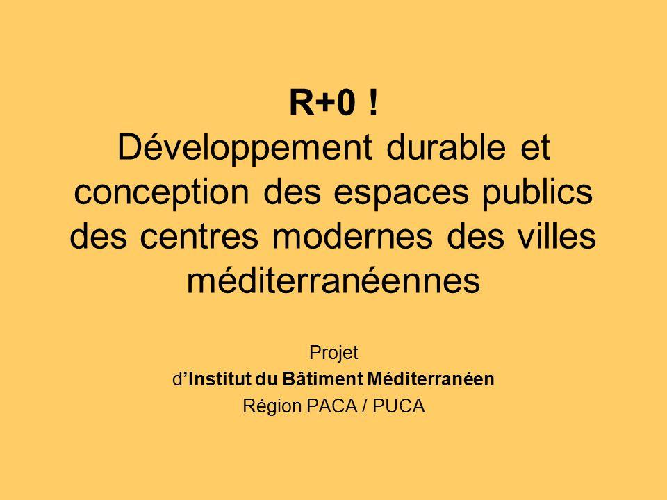 Projet d'Institut du Bâtiment Méditerranéen Région PACA / PUCA