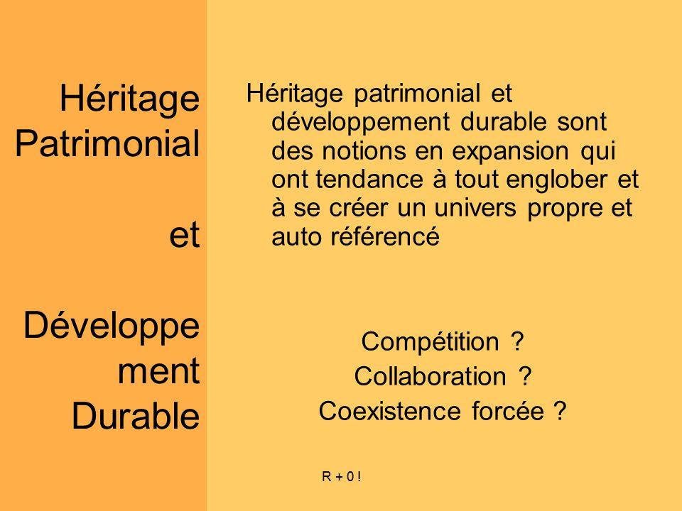 Héritage Patrimonial et Développement Durable