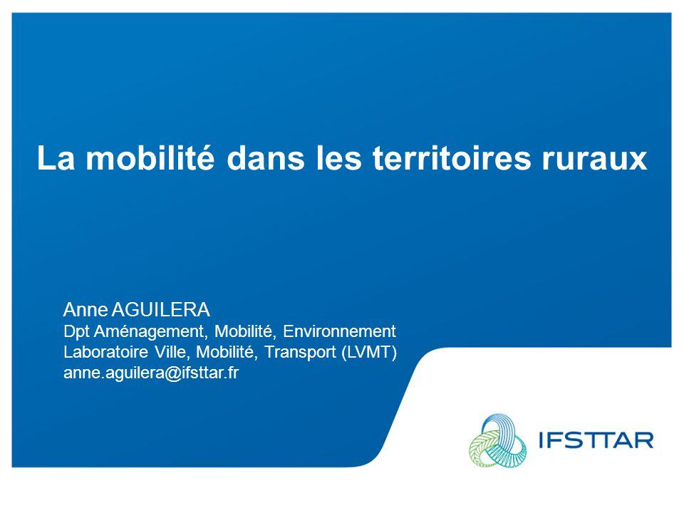 La mobilité dans les territoires ruraux