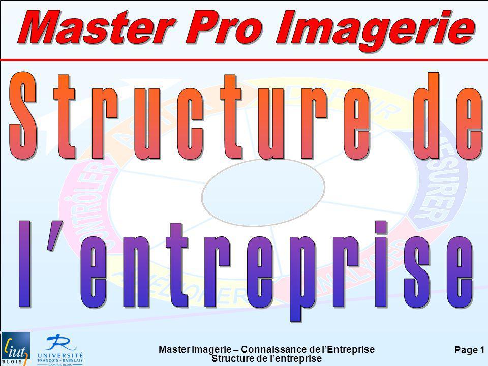Master Pro Imagerie Structure de l entreprise