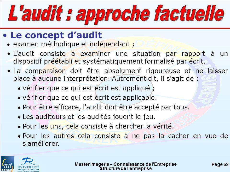L audit : approche factuelle