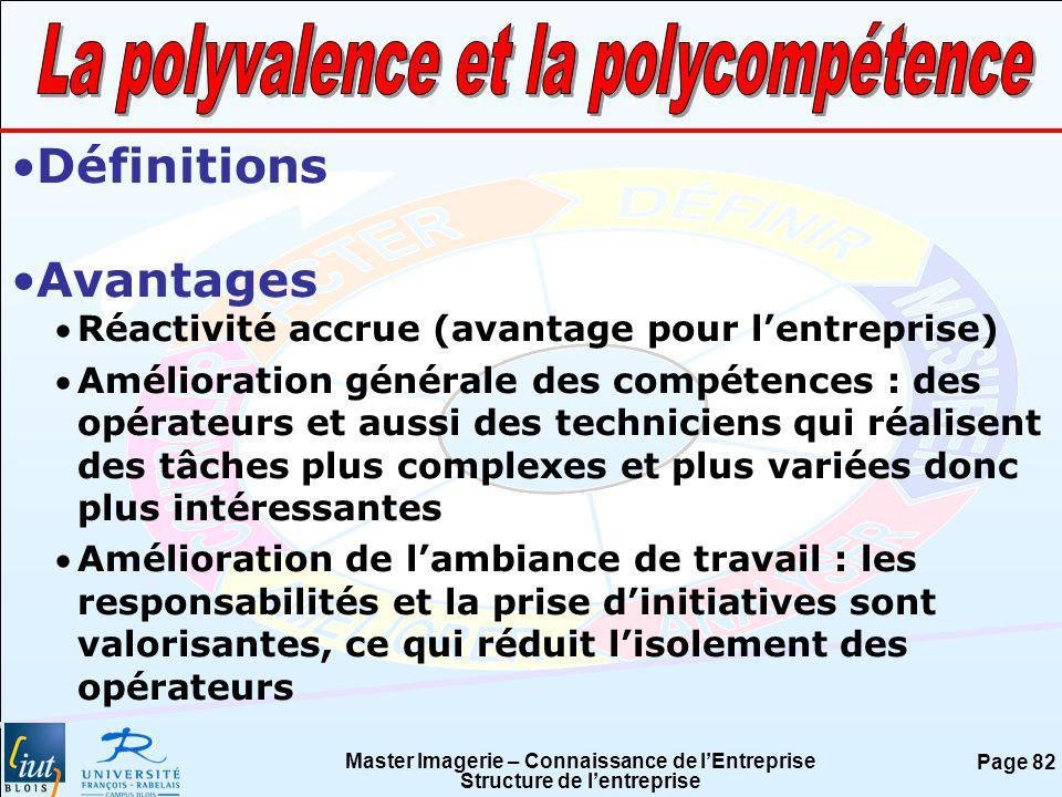 La polyvalence et la polycompétence