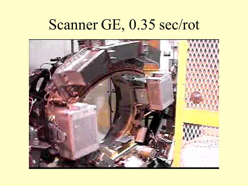 Scanner GE, 0.35 sec/rot