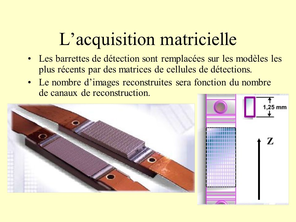 L'acquisition matricielle