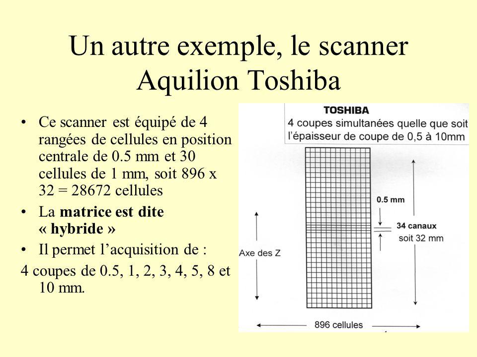 Un autre exemple, le scanner Aquilion Toshiba