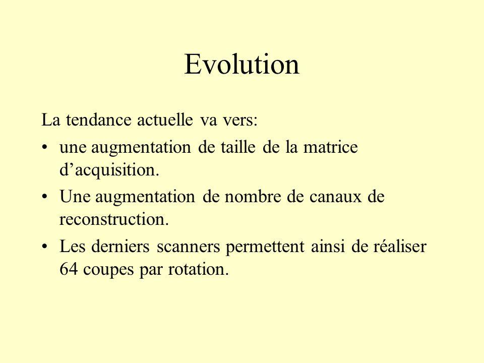 Evolution La tendance actuelle va vers: