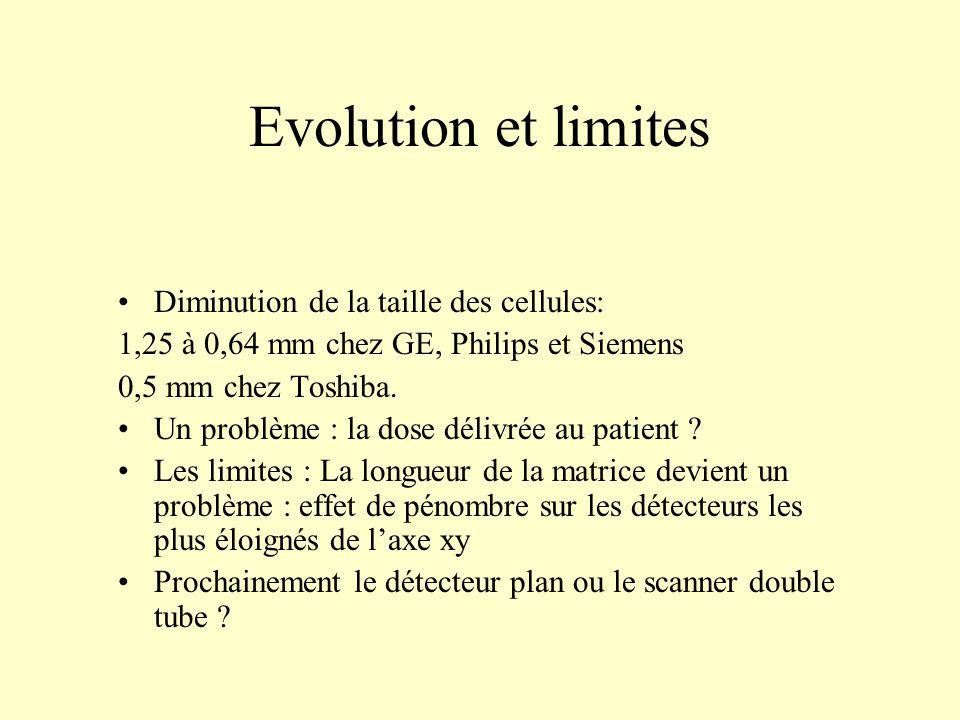 Evolution et limites Diminution de la taille des cellules: