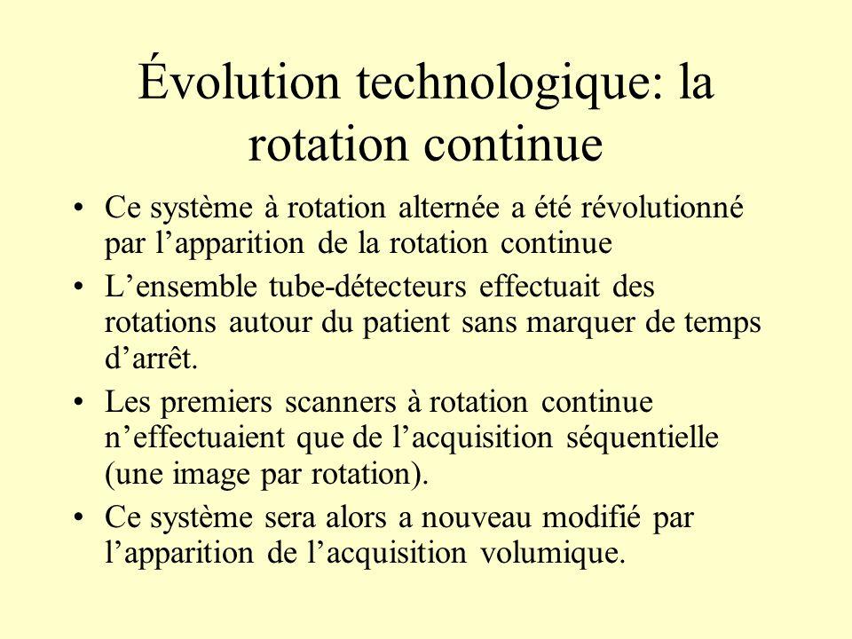 Évolution technologique: la rotation continue