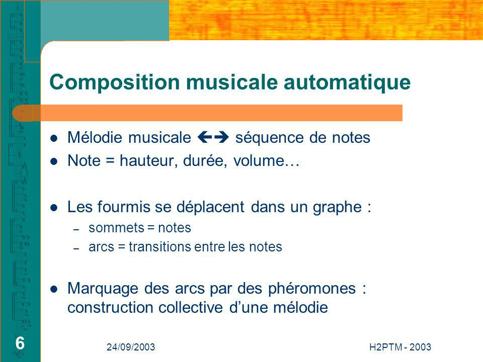 Composition musicale automatique